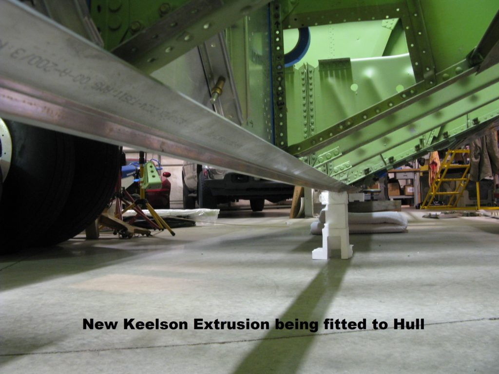 16. New Keelson Extrusion being fitted to Hull