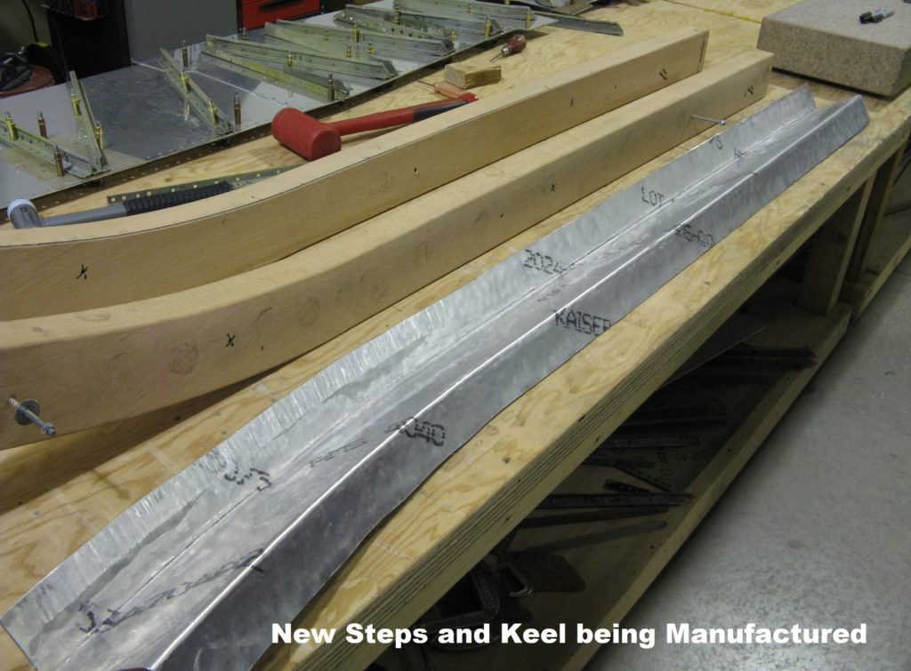 17. New Steps and Keel being Manufactured